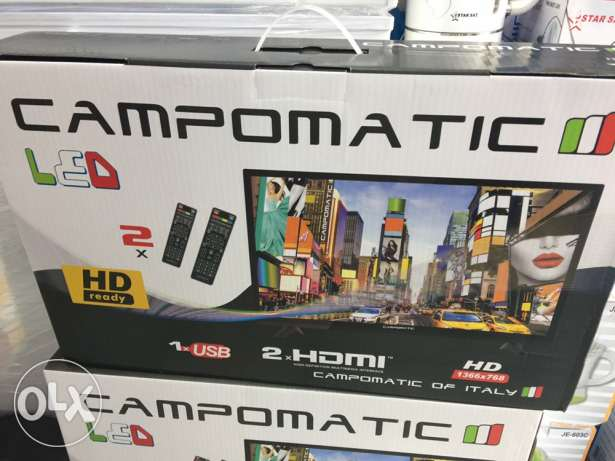 tv led 25 inch campomatic NEW