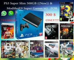 Ps3 superslim 500gb new moded, معدلة