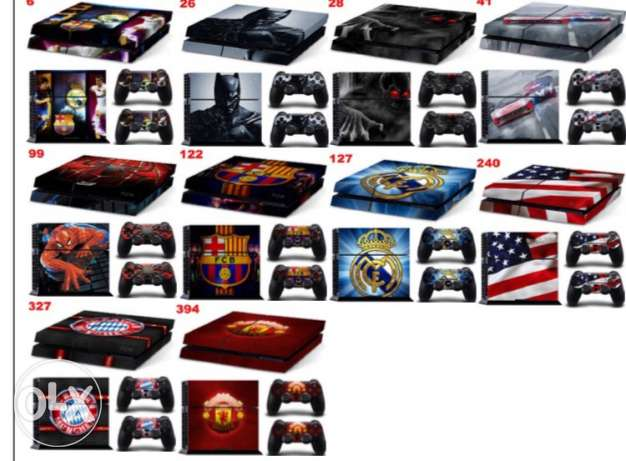 Ps4 skins, grips, light bars and accessories