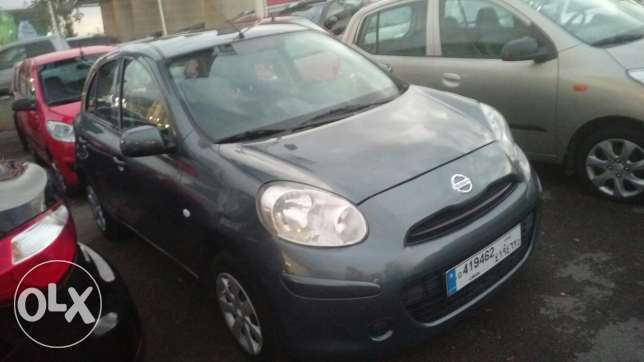 Nissan micra 2013 fully loaded 41000 km انطلياس -  1