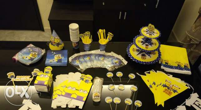 Minions birthday set