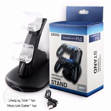 Dual Controller Charger Stand Station for PlayStation 4