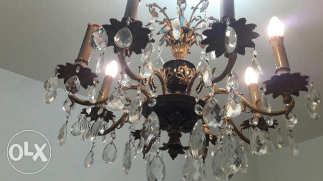 1 Antique chandelier black mina