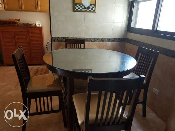 Kitchen table and wall unit