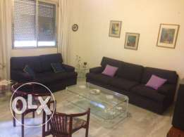 Furnished and fully equipped appart for rent in achrafieh