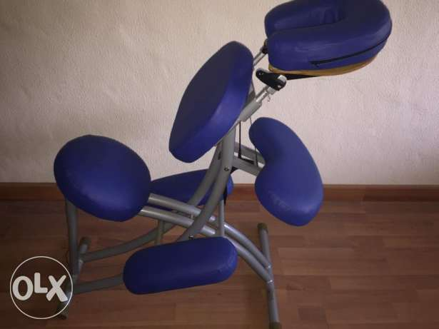 New chair for massage made in sweden