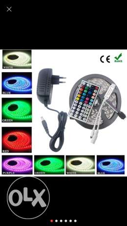 LED strip 5 meters , waterproof , available color and white