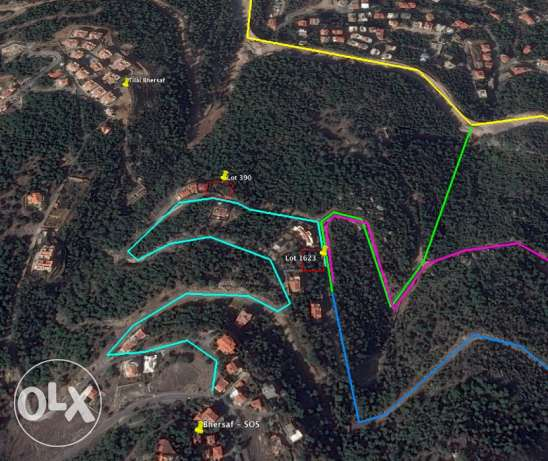 Land for Sale - 1270 SQM - Spectacular Views - Bhersaf Sakiet El Misk