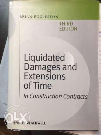 Liquidated Damages and Extension of Time Eggleston 3rd edition
