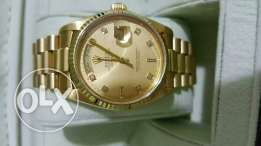 Rolex daydate full gold with box