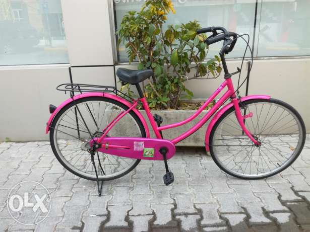 Italian style pink bicycle