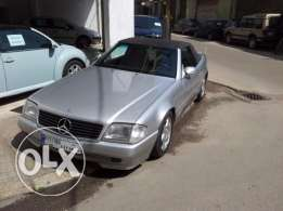 Mercedes SL 300-Mod:1990-Silver-Black leather-Convertible with Hardtop