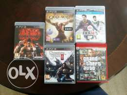5 Games ps3 for sale
