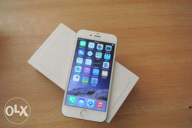 iPhone 6 64 GBS - White ( Used ) with box