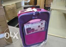 3-piece Kids Luggage Sets Pink for Girls
