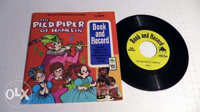 the pied piper vintage book & record 1971