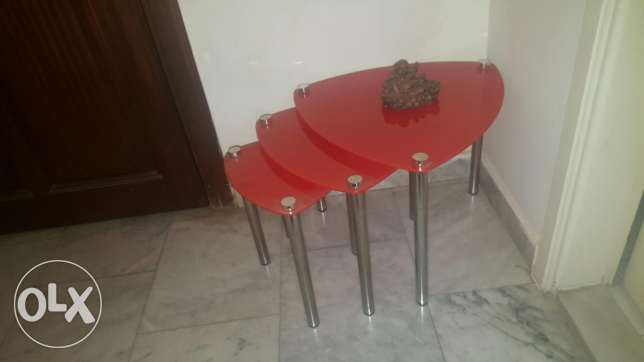 Three Small cafe tables ضهر الصوان -  1