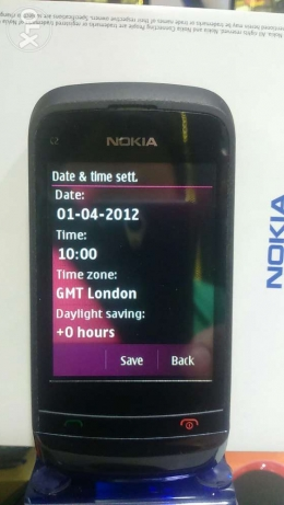 Nokia used for sale touch end key C2. 2sim