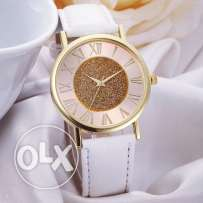 White Casual Leather Watch