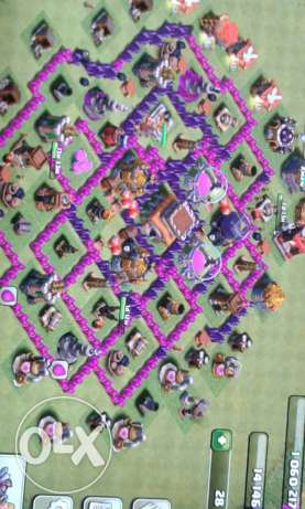 Clash of clans th 8 not max 70$