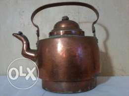 Antique big Teapot, more than 100 years, heavy copper, from Germany
