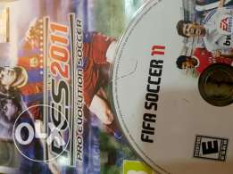 Fifa11 + pes2011 for ps3 just 15$