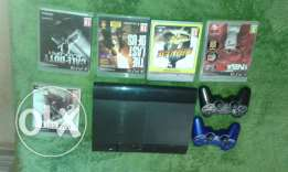 Ps3 Perfect condition 230$ 2 controllers+5games