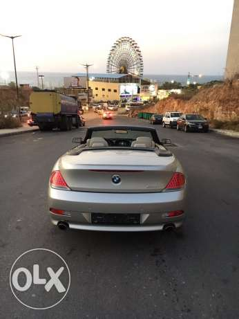 BMW 650i 2007 convertible like new الروشة -  4