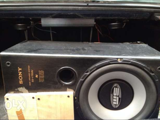 bazooka+speaker sony *2 l2asleyet + power