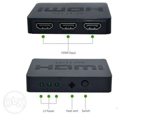 Voxlink 1080P 3x1 MINI HDMI Splitter
