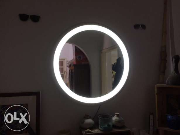 Vintage mirror with back light