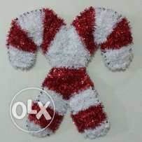 Christmas Cane Wall Decoration red