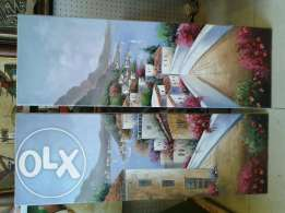 oil painting 2 pieces