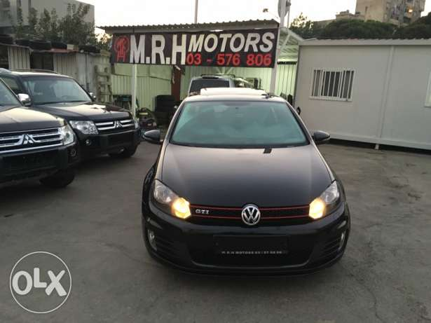 VW Golf VI GTI 2012 Black Fully Loaded in Excellent Condition! بوشرية -  3