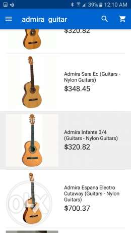 Guitar Admira ifante Made in Spain great 3/4 size حمانا -  2