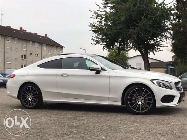 Mercedes C180 coupe 2016 AMG-LINE white on black, 11.000km !! GERMAN ! انطلياس -  1