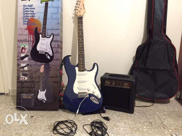 electric guitar (brand new) + amp