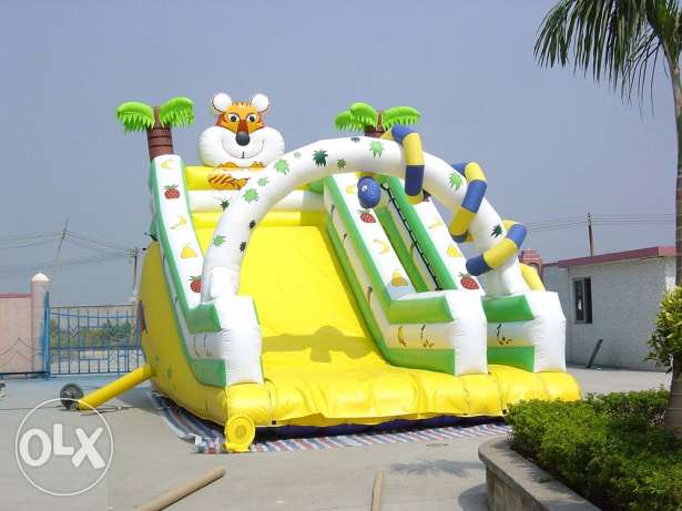 Inflatable slide outdoor playground