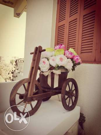 Bicycle - natural artificial flowers