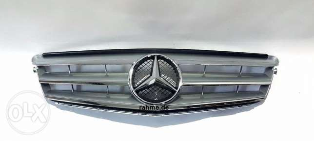Mercedes Radiator Grille For: C-Classe W204 كلندر مرسيدس فضي لميع