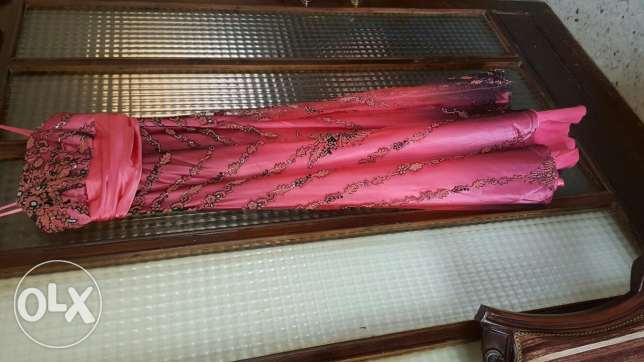 Corail&black elegant Evening dress