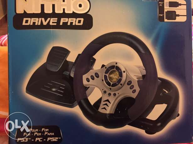 driving wheel for ps3 - ps2- pc (still in box)