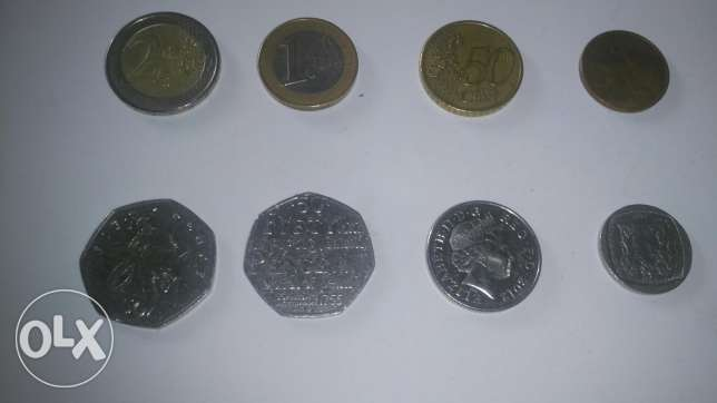 Old coins + 3.55 euro