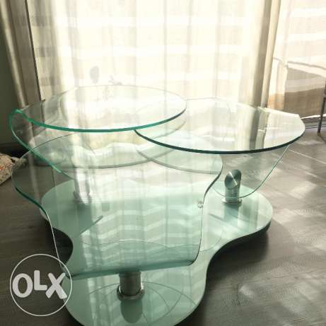 Glass table with chrome بعبدا -  5