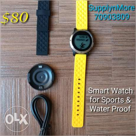 Smart watch for sports & water Proof