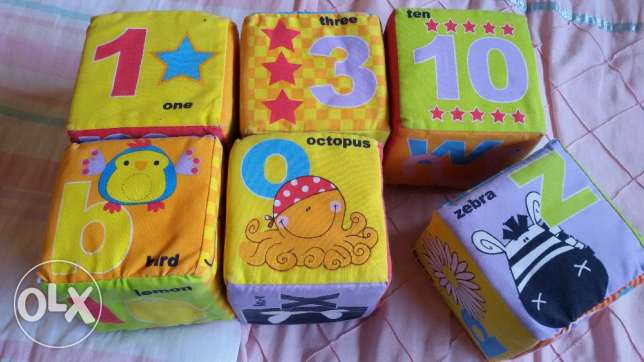TOY 6 Cubes for baby سن الفيل -  1