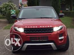 Range rover Evoque Dynamic 2012 red on 2tone GERMAN FULLY LOADED !!!