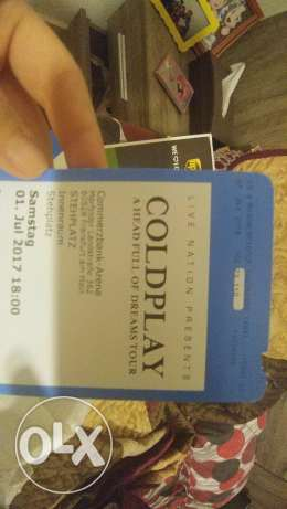 2 Coldplay concert tickets