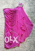 Fashion Fuschia evening dress