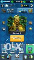 Clash royale account level 9 and four legendery
